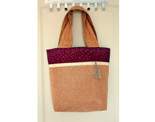 Tutorial: Color block tote with wide handles
