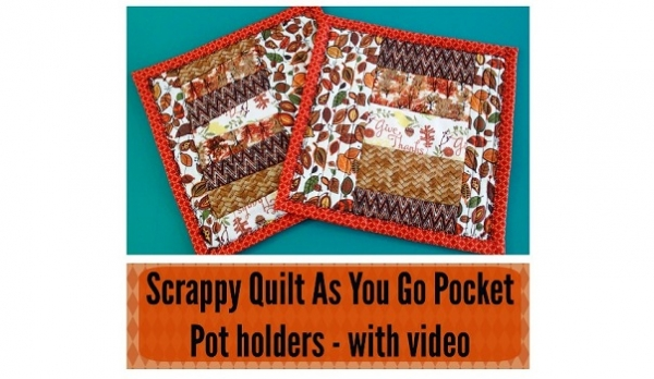 Tutorial: Quilt-as-you-go pot holder with pocket