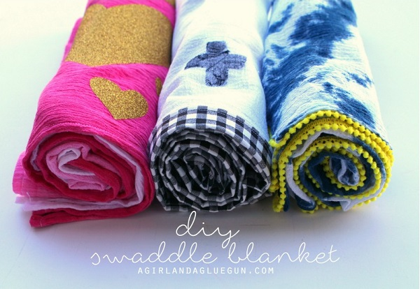 Tutorial: 3 ways to embellish gauze swaddle blankets