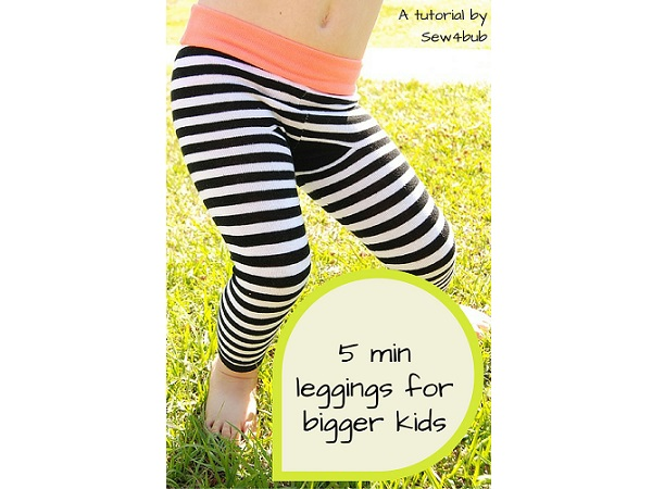 Tutorial: 5-minute little kid leggings made from adult socks