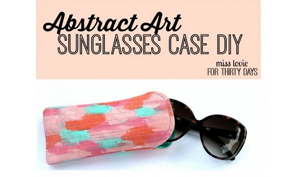 Tutorial: Abstract painted sunglasses case