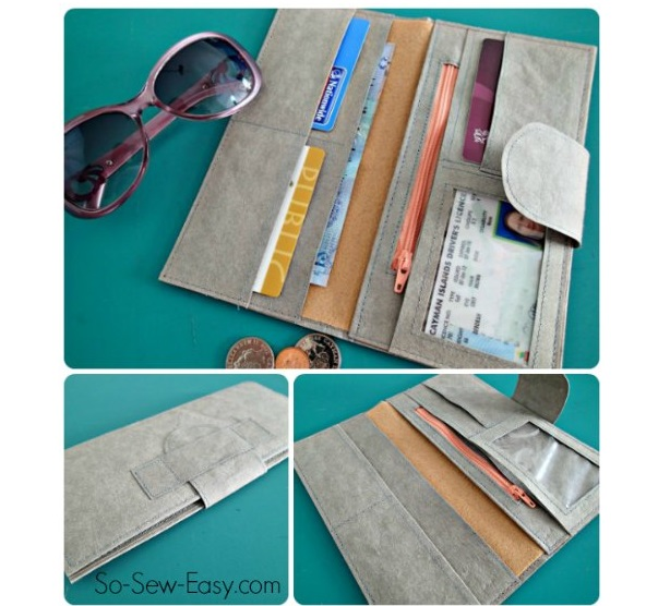Free pattern: DIY Wallet with plenty of pockets
