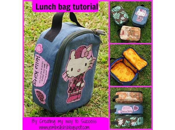 Tutorial: Zippered lunch bag