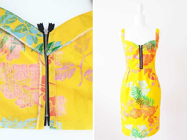 Tutorial: Add a zip front to any bodice pattern