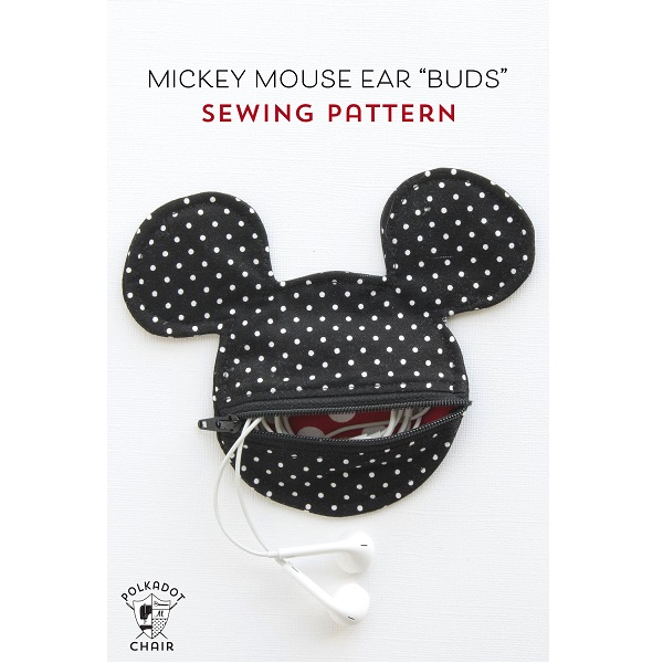 Tutorial: Mouse ear earbud pouch