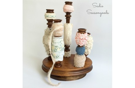 Tutorial: Spinning candlestick lace organizer