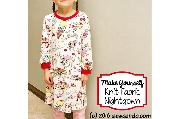 Tutorial: Easy knit nightgown for kids