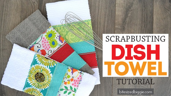 Tutorial: Easy scrappy dish towel