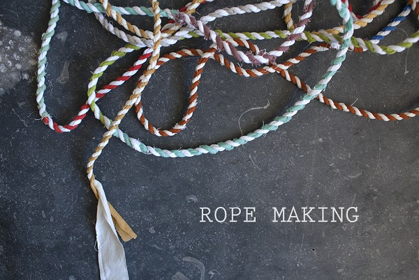 Tutorial: Scrap fabric rope