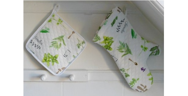 Tutorial: Pot holder and oven mitt