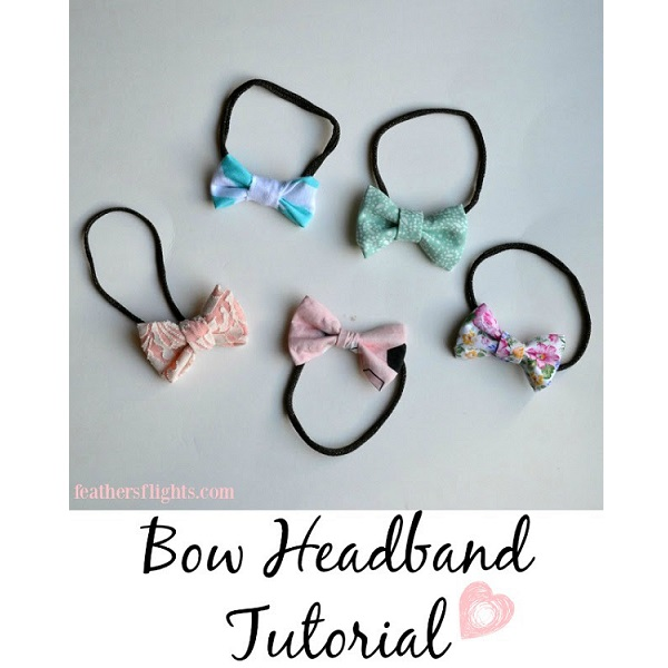 Tutorial: Simple baby bow headband, with sewn or no-sew methods