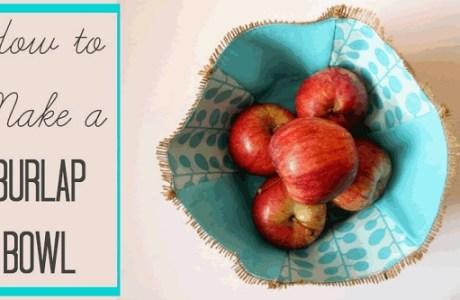 Tutorial: Burlap and fabric bowl