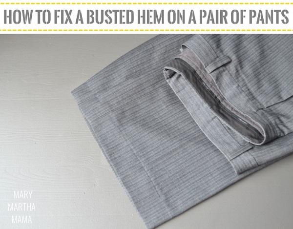 Tutorial: Fix a pants hem using a blind hem stitch