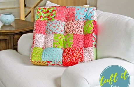 Tutorial: Tufted square patchwork cushions