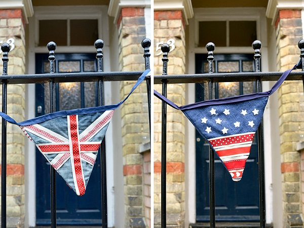Tutorial: Upcycled denim flag bunting