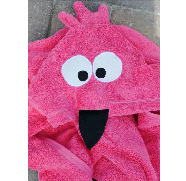Tutorial Flamingo hooded bath towel
