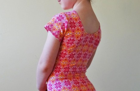 Tutorial: Draft and sew a girls' leotard