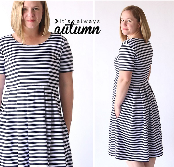 Tutorial: Perfect fit & flare dress, no pattern required