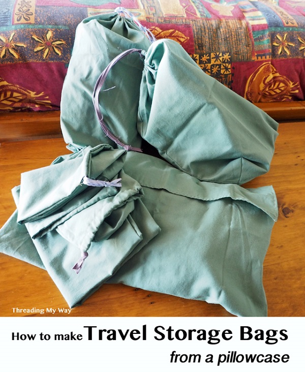 Tutorial: Make travel storage bags from old pillowcases