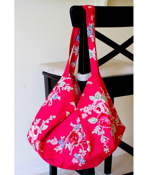 Free pattern: 1 yard magic hobo bag