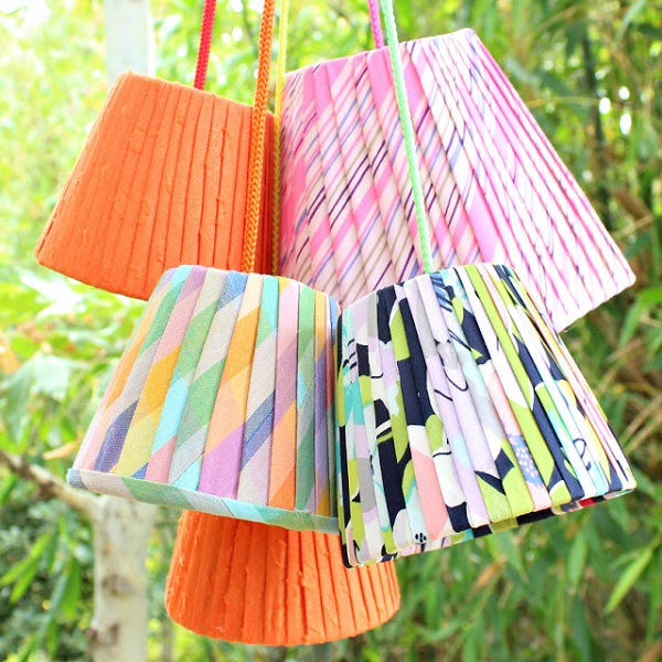 Tutorial: Faux pleated lampshades