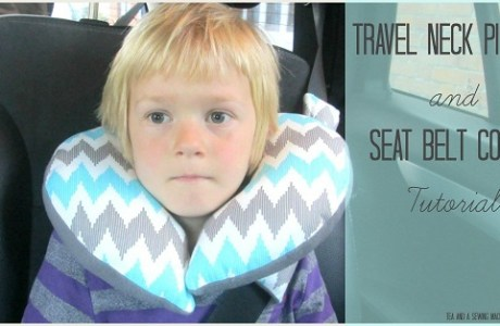 Tutorial: Kids' travel neck pillow and seat belt cover