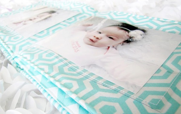Tutorial: Soft fabric photo book for baby