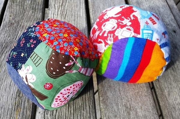 Tutorial: Scrappy soft fabric balls