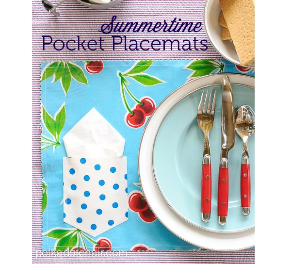 Tutorial: Oilcloth Summertime Pocket Placemats