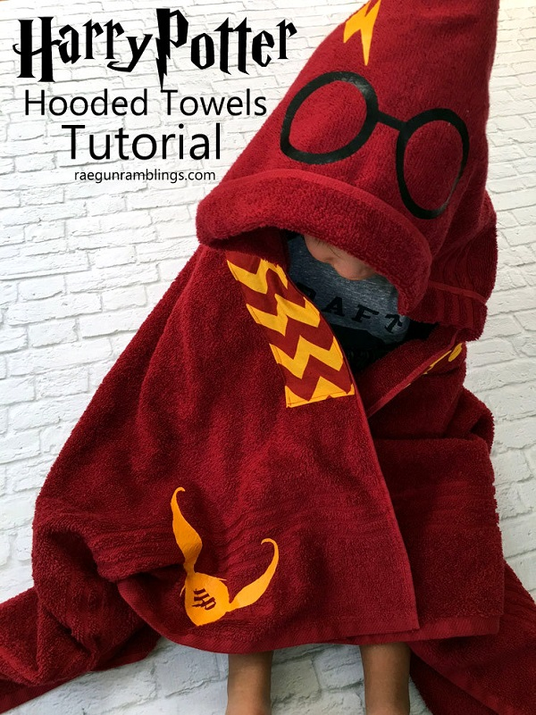 Tutorial: Harry Potter hooded towel