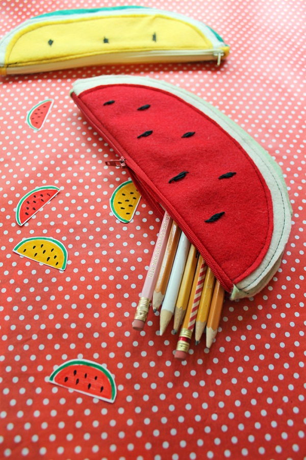 Tutorial: Watermelon zip pouches