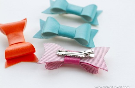 Free pattern: No-sew vinyl hair bow