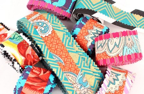 Tutorial: Scrapbusting Boho fabric ribbon