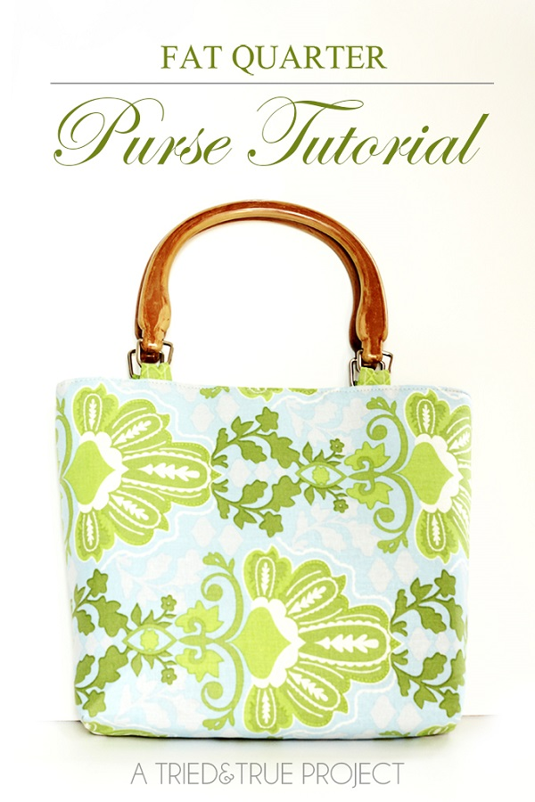 Free pattern: Fat quarter purse