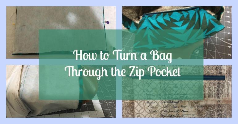 Tutorial: Turn a lined bag through a zipper pocket