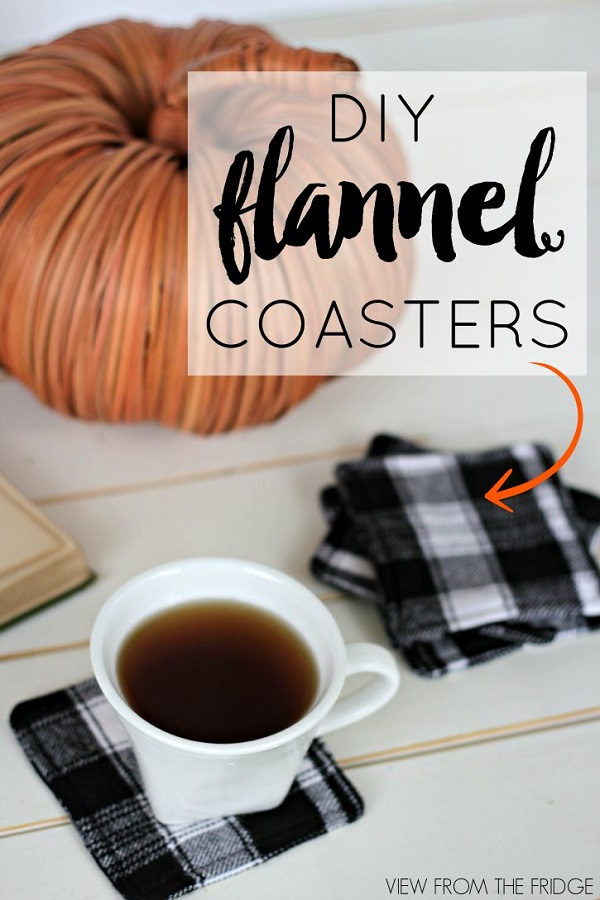Tutorial: Easy flannel coasters
