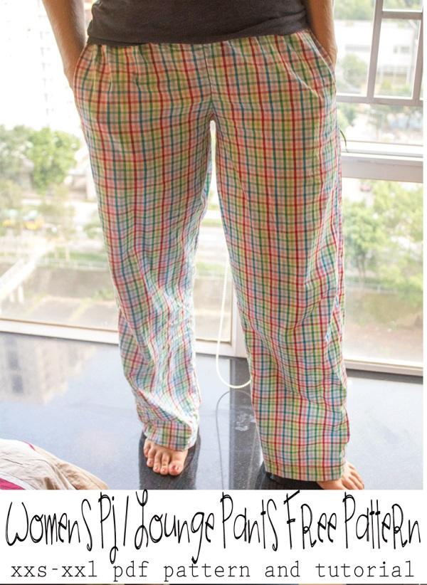 Free pattern: Women pajama lounge pants