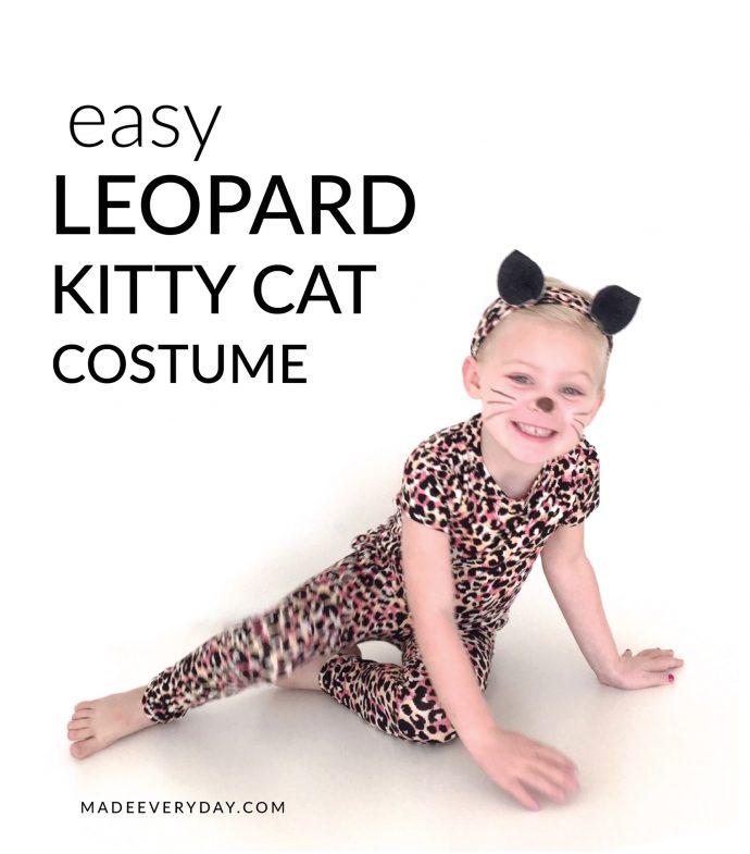 Tutorial: Leopard kitty cat Halloween costume