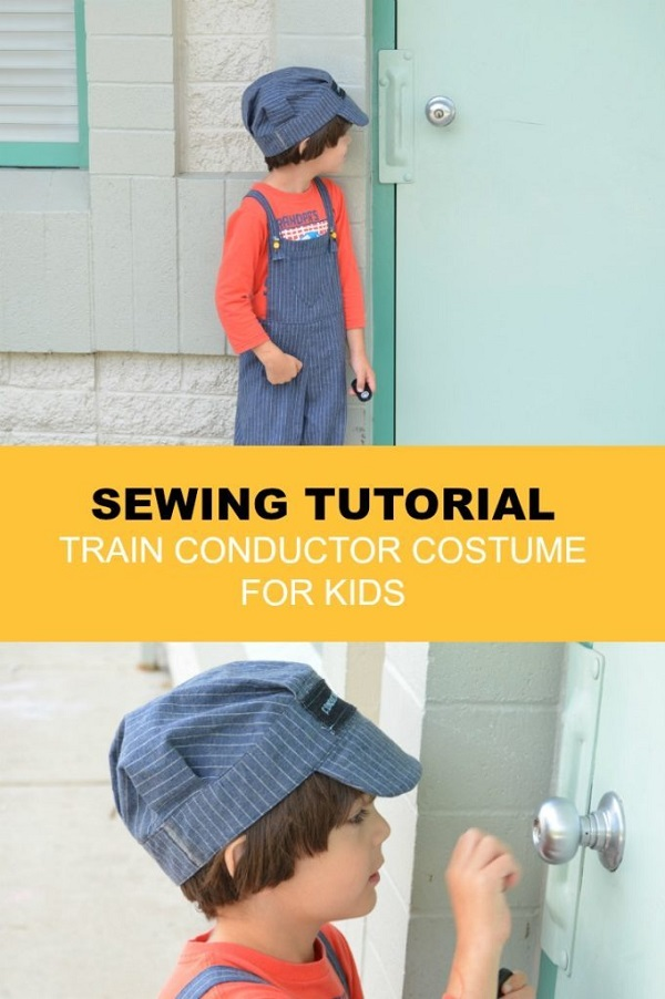 Free pattern: Train conductor Halloween costume