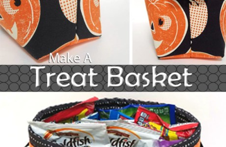 Tutorial: Sew a Halloween treat basket