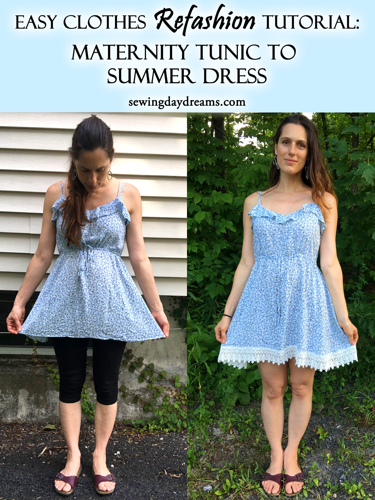 Diy Clothes For Summer Diy Clothes Refashion Tutorial Maternity Tunic To