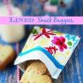 Lined Snack Baggies  sewlicioushomedecor