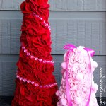 How To Make Felt Trees for Christmas or Valentines Tutorial