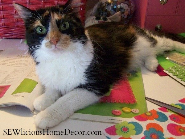 kitty cat sewing helper tutorial sewlicioushomedecor SEW Organized! Need le Little Love Sewing Needle Case + Giveaway