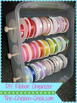 Ribbon Organizer SEW Organized!  Wrapping Paper Bar Stool Organizer Tutorial