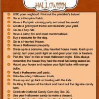 20 Things To Do For Halloween! + Free Printables!