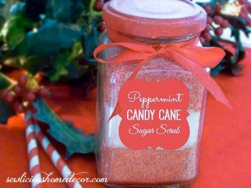 100 3412 2 2 500x374 Peppermint Candy Cane Sugar Scrub with Labels