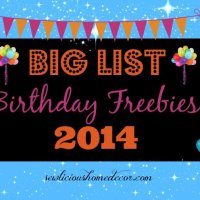Big List of Birthday Freebies!