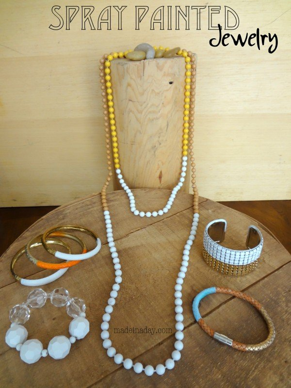 Spray Painted Jewelry11 600x800 1 Fun Craft Projects To Make This Weekend
