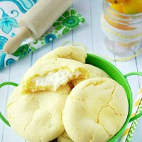 Lemon Pudding Cheesecake Cookies